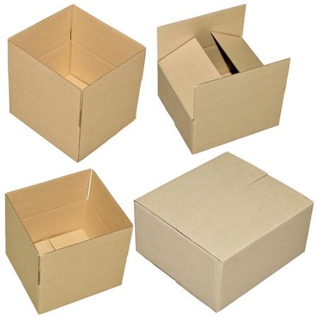 close up of carton box on white background Stock Photo - 13220954