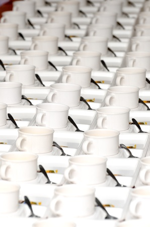 Many empty cup of coffee Stock Photo