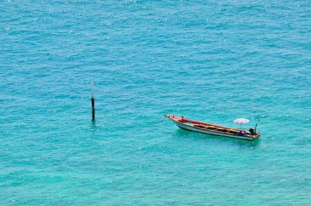 Beautiful boat on the blue sea Stock Photo - 13627746