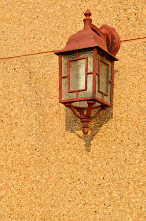 Vintage brown lamp inter with copy space Stock Photo - 14293515