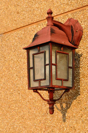 Vintage brown lamp inter with copy space Stock Photo - 14520059