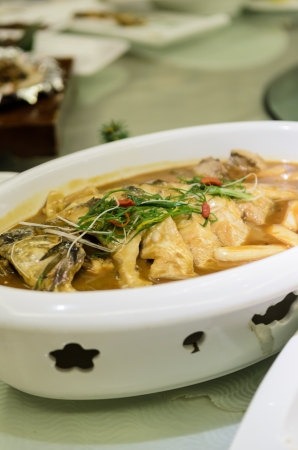 hot fish, chinese food Sichuan Cuisine Stock Photo - 14599883