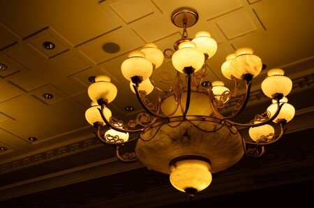 Luxury chandelier vintage style in hotel photo