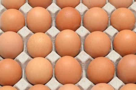 Eggs in a carton closeup view background photo