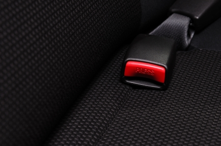 close up safety belt in a car photo