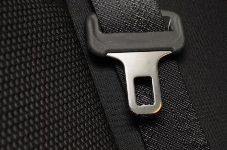 cinturon seguridad: cerca del cintur�n de seguridad en un coche Foto de archivo