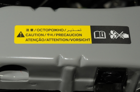 yellow caution sign for radiation fan Stock Photo - 16415196