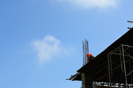 A construction worker on construction site photo