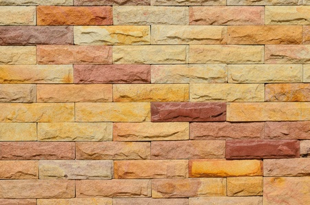 Background of high resolution colourful brick wall texture photo