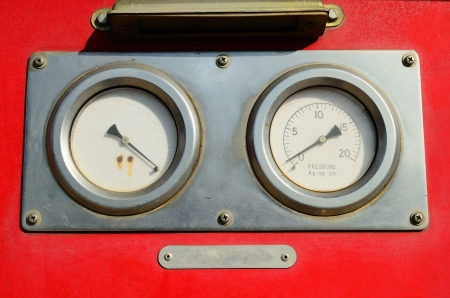 Gauge, Part of Fire Truck equipment Stock Photo - 17594295