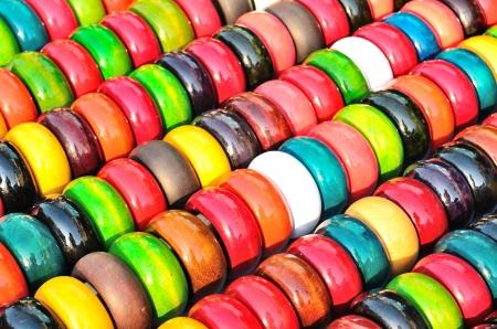 Fashion multicolored bangles for background