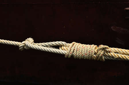 tied together: Brown rope tied together, safety and security