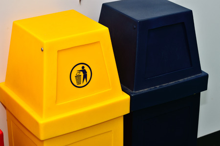 trashcan: Colorful recycling bins ,trashcan ecology concept