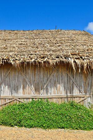 bamboo house: Native Thai style bamboo house background