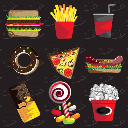 Junkfood and fastfood Vectores