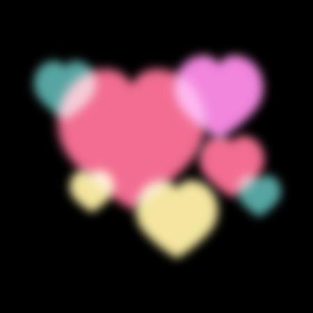 The Blur heart in valentine day