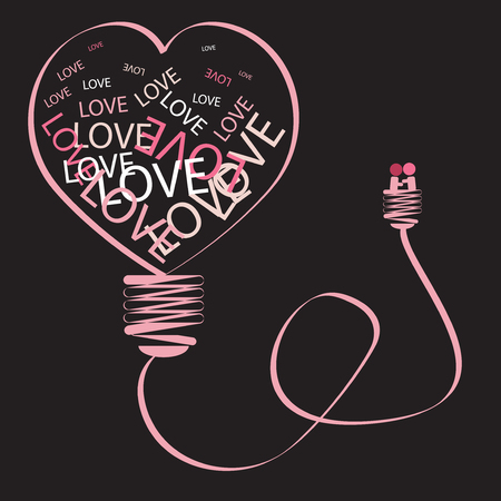 The heart is icon of valentine day