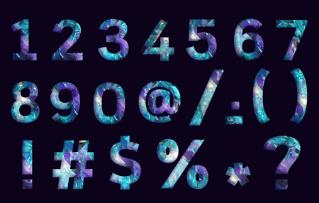 stylized font, text made of reflection light dimond, capital letter a,b,c,d,e,f for your unique decoration in jewellery  & many concept idea