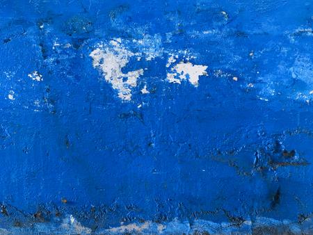 Blue glazed wall for background Foto de archivo