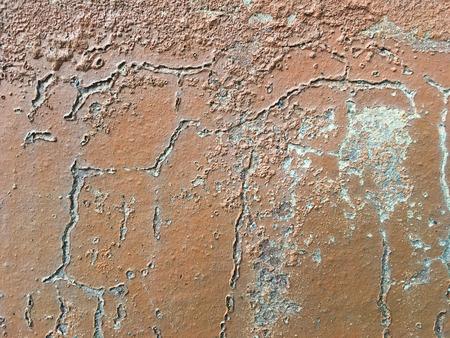 Plaster color cracked