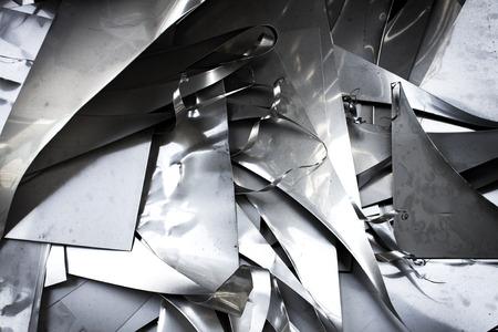 Stainless steel waste Foto de archivo