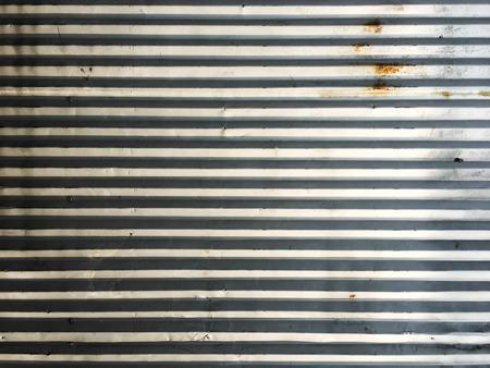 Rust on zinc wall