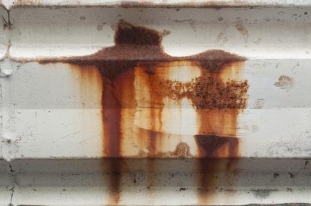 Effect form rusty on metal