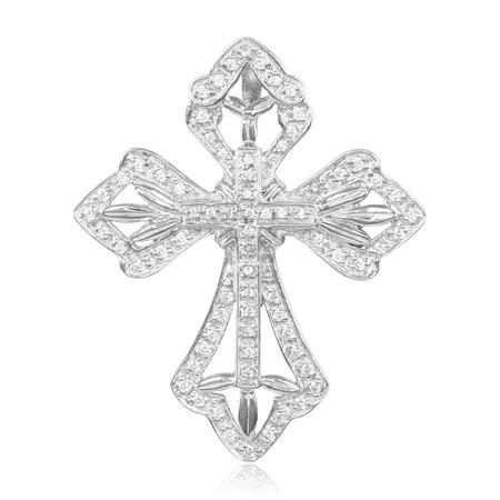 Pendant, jewelry on white background