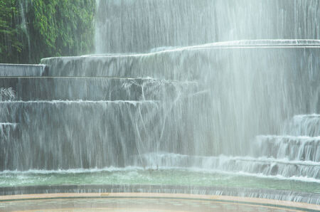 waterfall model: waterfall model at  the park in suphanburi, thailand
