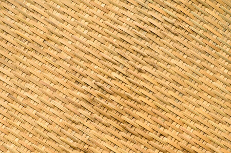 back and forth: bamboo weave is a traditional craft of Thailand  It is made of bamboo strips and then cross-weave back and forth