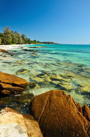 koh samet: beautiful bright blue sea at island koh samet, thailand