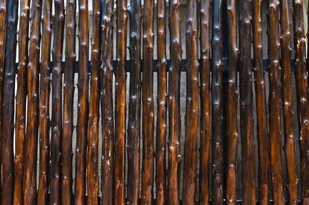pared madera: Close up de material patr�n de cortina pared de madera Foto de archivo