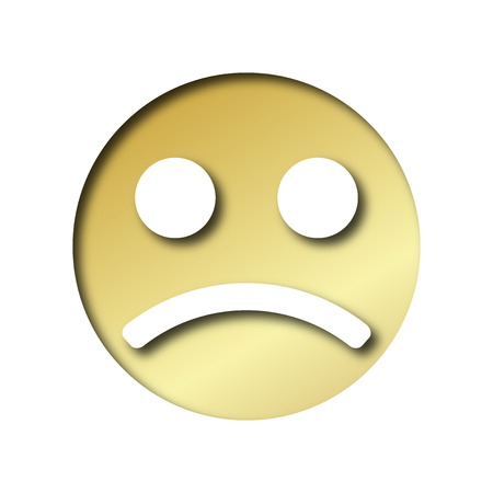 morose: gold smiley sad emoticon