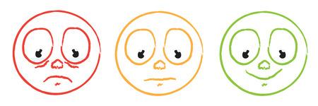 critique: coloruful smiley emoticon set Illustration