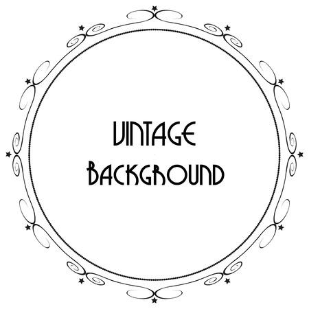 cadre antique: Vintage vecteur de fond d�coratif cadre antique