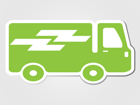 transport icon: delivery car clipped sticker Isolated illustration transport icon