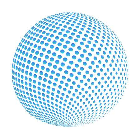 globe logo: Business Corporate Abstract doted blue globe logo Illustration