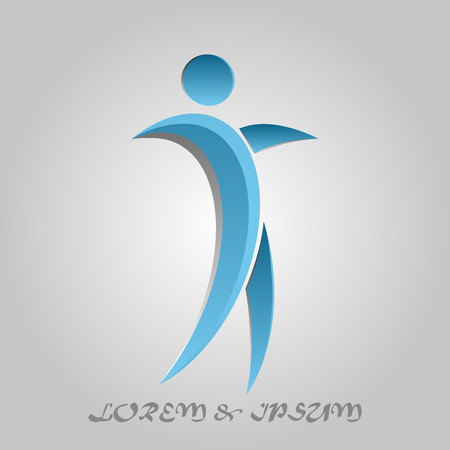 Business Corporate Abstract human dance icon blue logo