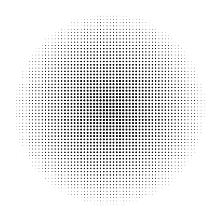 gold circle: abstract halftone doted gold circle vector background Illustration