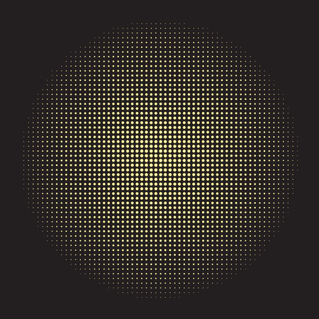 hallucinogen: abstract halftone doted gold circle vector background Illustration