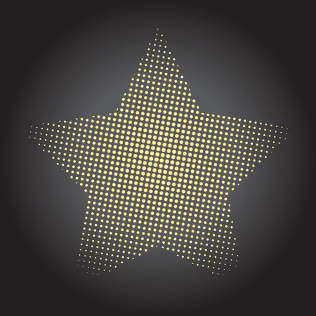 tribute: abstract halftone doted star tribute vector background