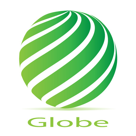 globe logo: Business Corporate loop Abstract green globe logo