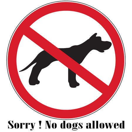 defecation: no dog warning sign button vector silhouette illustration Illustration