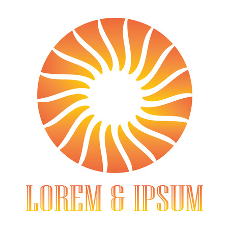 Sun logo abstract vector illustration Illustration