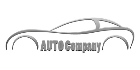 vector sport car silhouette symbol business company emblem isolated element auto logo icon