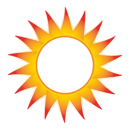 business sign: Sun abstract symbol summer frame blank badge logo vector business sign illustration element