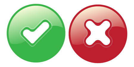 yes no choice check mark button vector web element icon isolated vote Çizim
