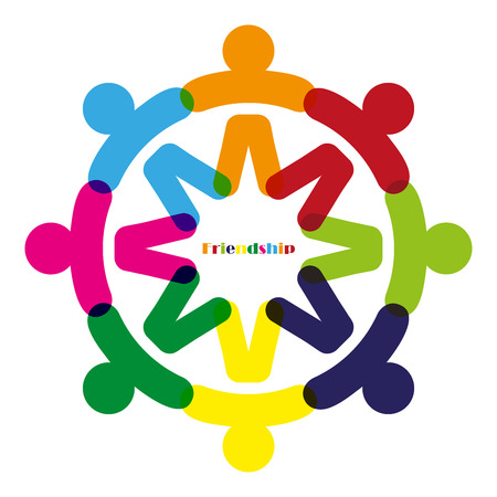 fellowship: Business Corporate Abstract people unite friendship design, company human  emblem