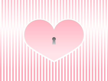romance: Valentines day pink heart greeting card love romance  Illustration