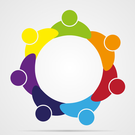 unite: Business Corporate Abstract people unite friendship, company human icon emblem